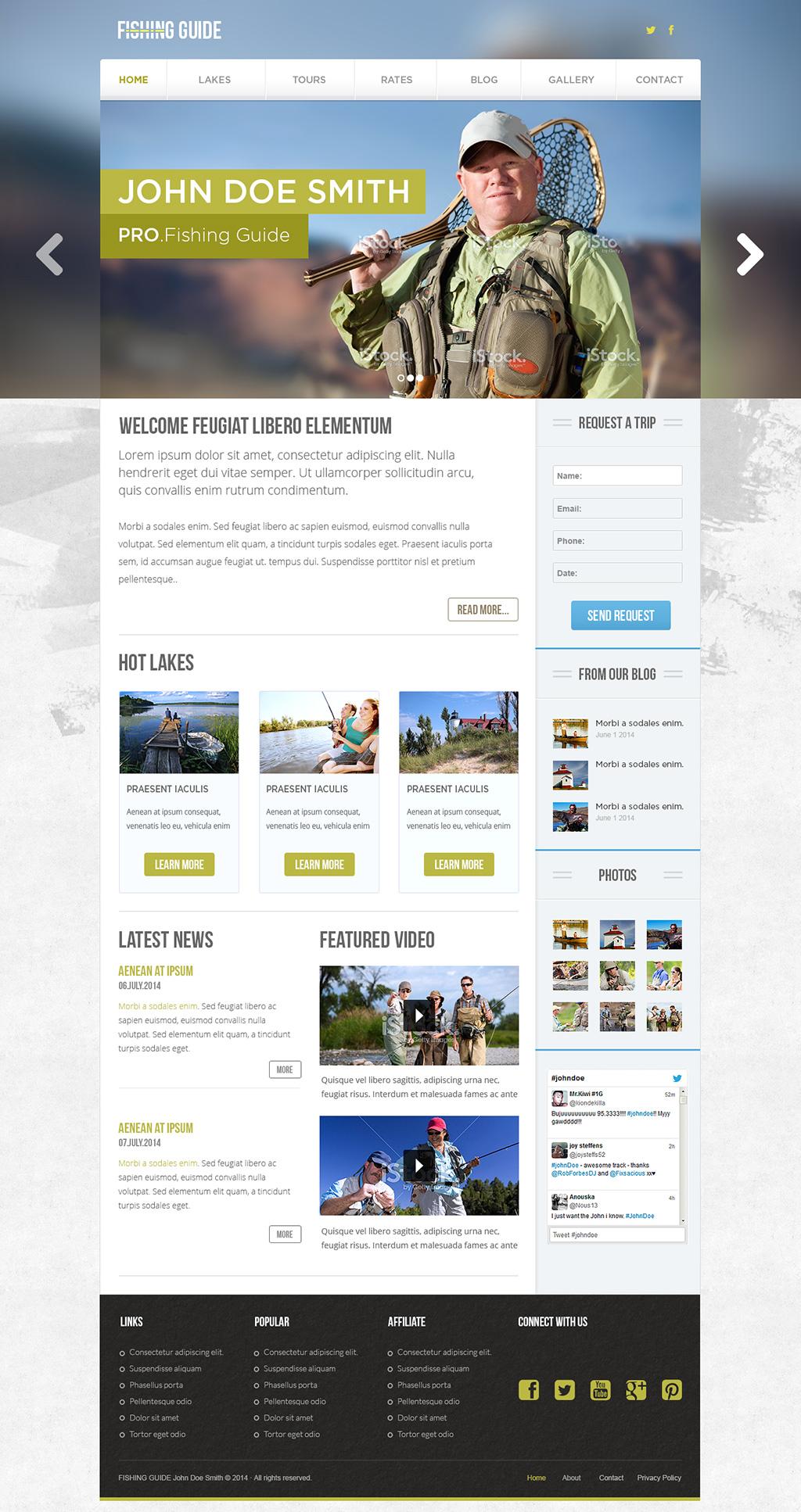 PRO Fishing Guide Theme - A