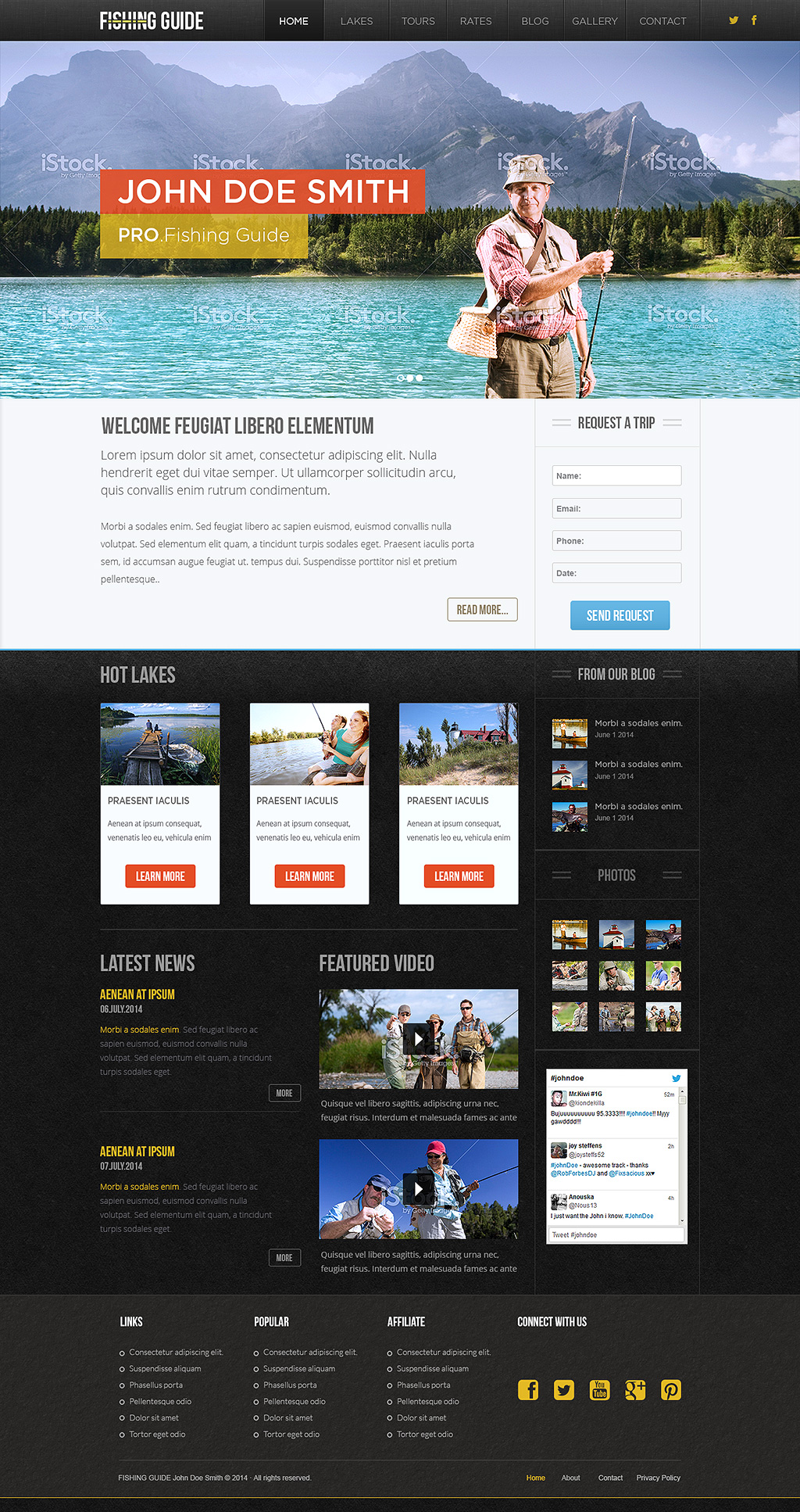 PRO Fishing Guide Theme - B