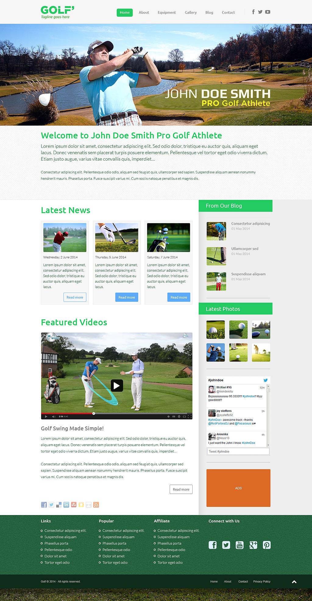 PRO Golf Athlete  Theme - A