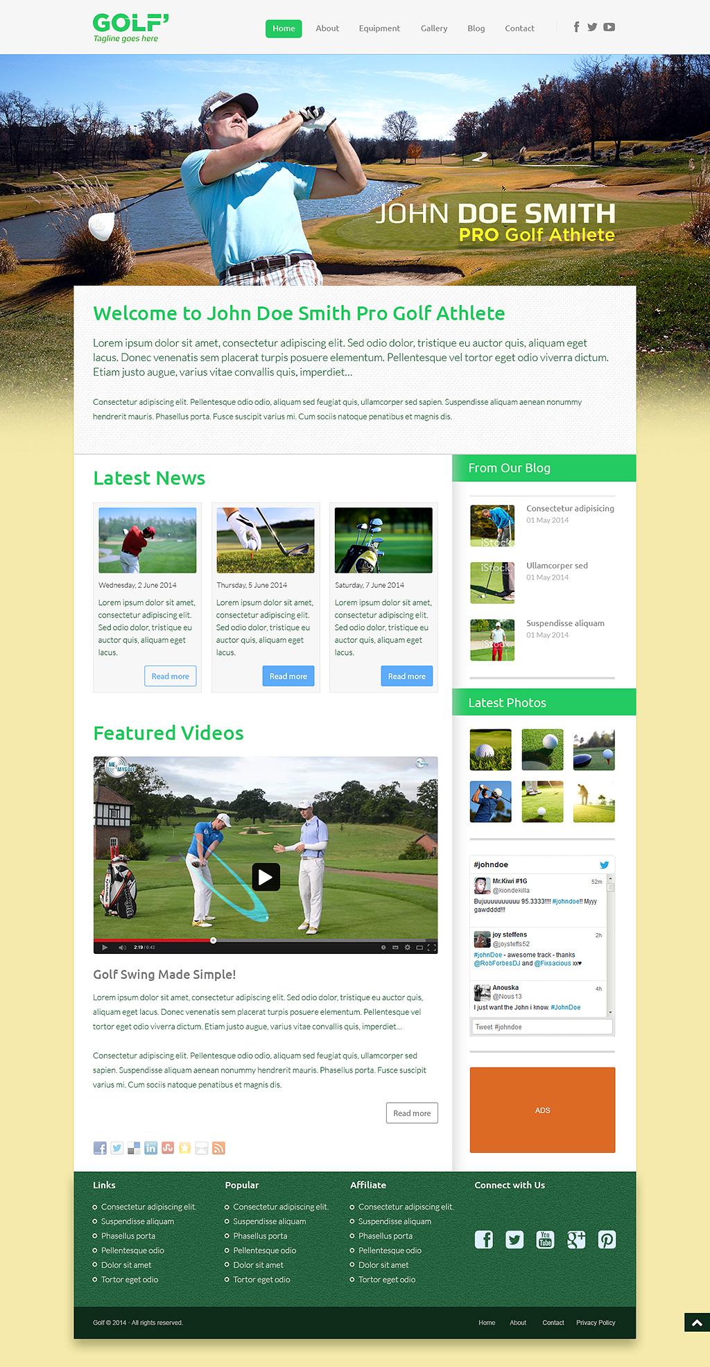 PRO Golf Athlete Theme - B